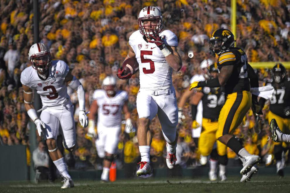 Rose Bowl: Christian McCaffrey and Stanford jump all over Iowa in a 45-16 rout _lowres