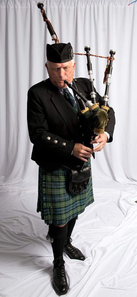 Video: Though 'loud and obnoxious,' New Orleans' Robert Grubb loves playing his bagpipes _lowres