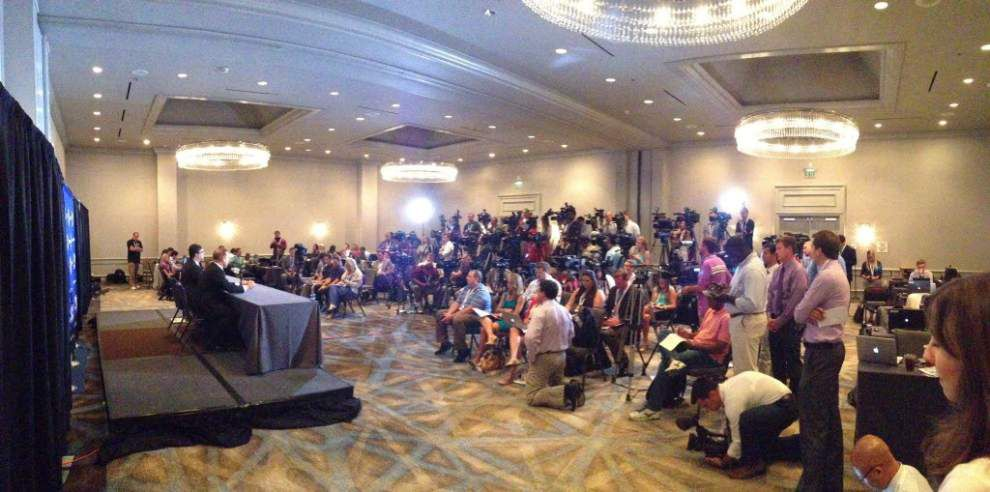 Live updates: LSU coach Les Miles, players address reporters at SEC Media Days in Birmingham, Alabama _lowres