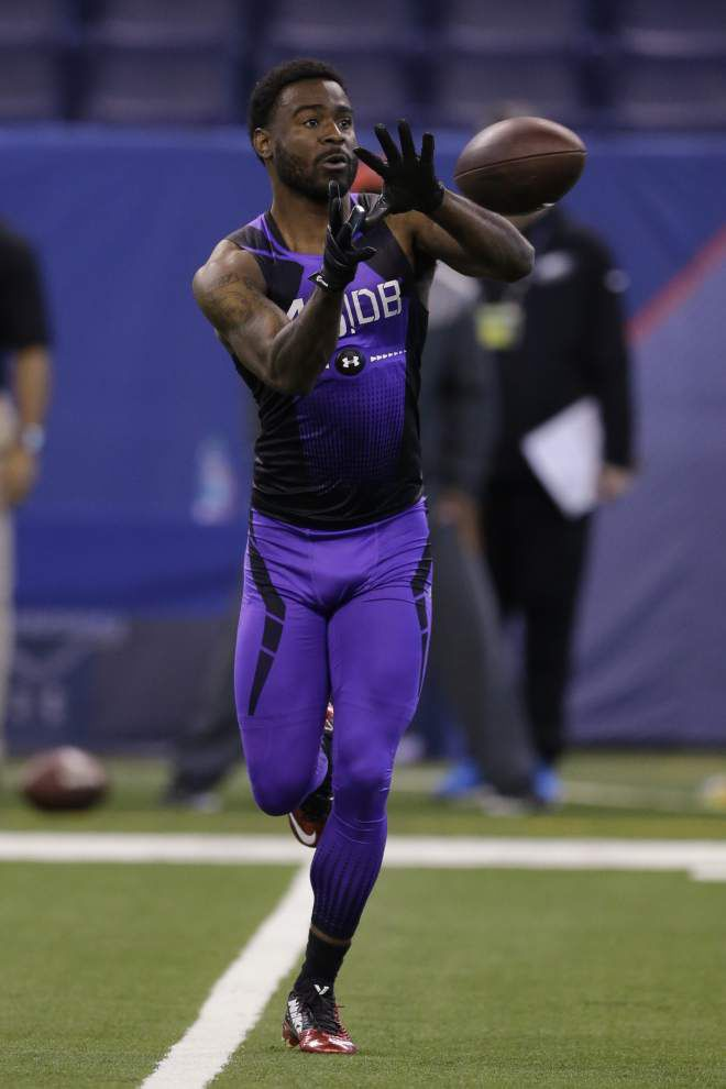 Damian Swann could give the Saints some flexibility with his ability to play both cornerback and safety _lowres