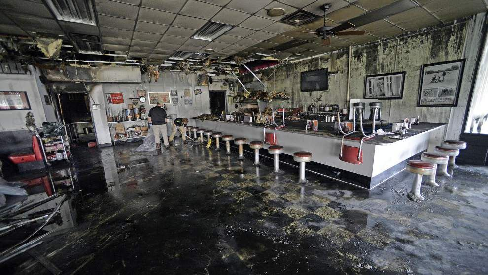 See before, after photos of Dearman's Soda Shop, damaged early Tuesday by fire; Trump Super Tuesday watch party moved to new location _lowres