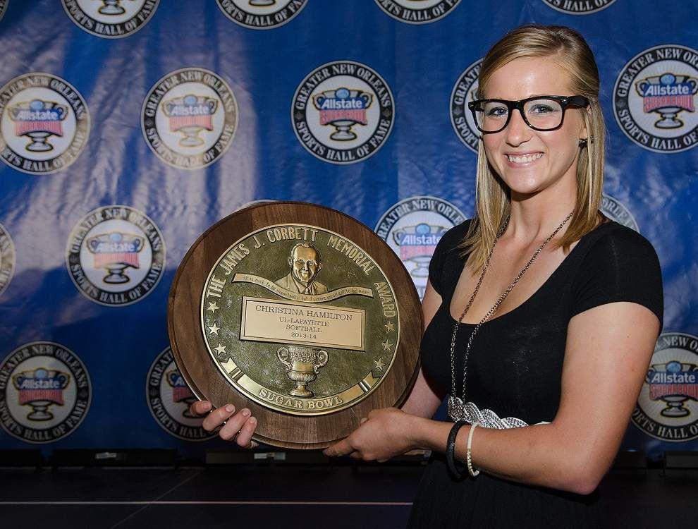 Leonard Fournette, Christina Hamilton receive Corbett awards _lowres