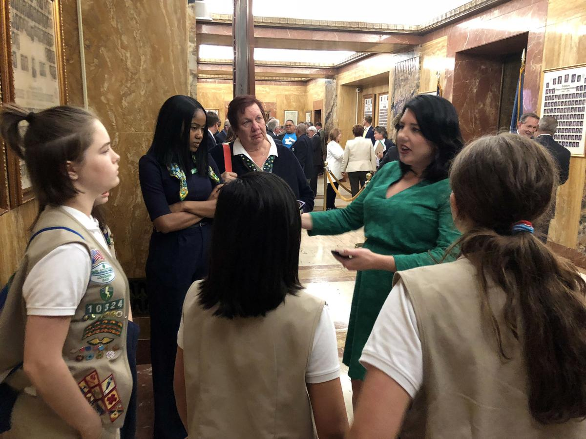girl scouts at the capitol 043018