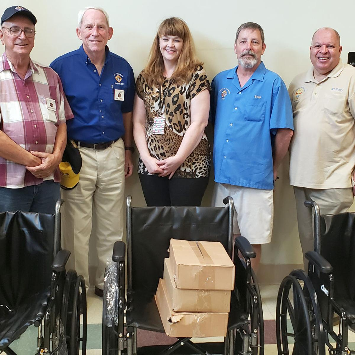 Knights of Columbus donate three wheelchairs to Southeast