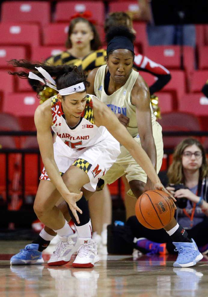 No. 5 Maryland women thump Southern 94-61 _lowres