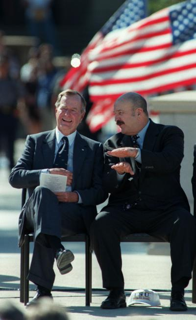 George Bush with Mike Foster... 10/09/98