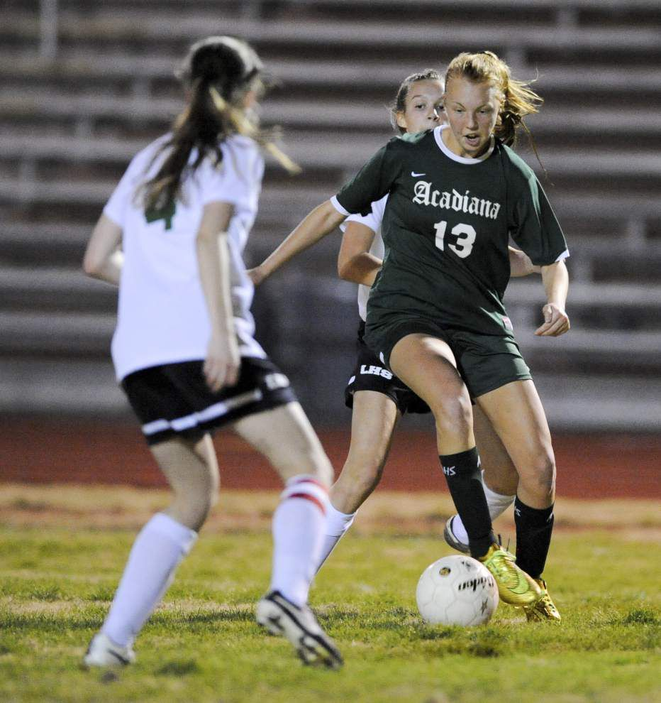 Sarah Matte's goal lifts Acadiana to 2-1 win over Lafayette High _lowres