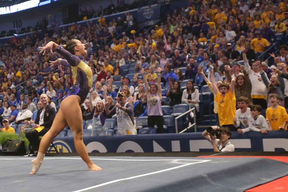 Watch Sarah Finnegan's perfect 10 clinch LSU's SEC championship