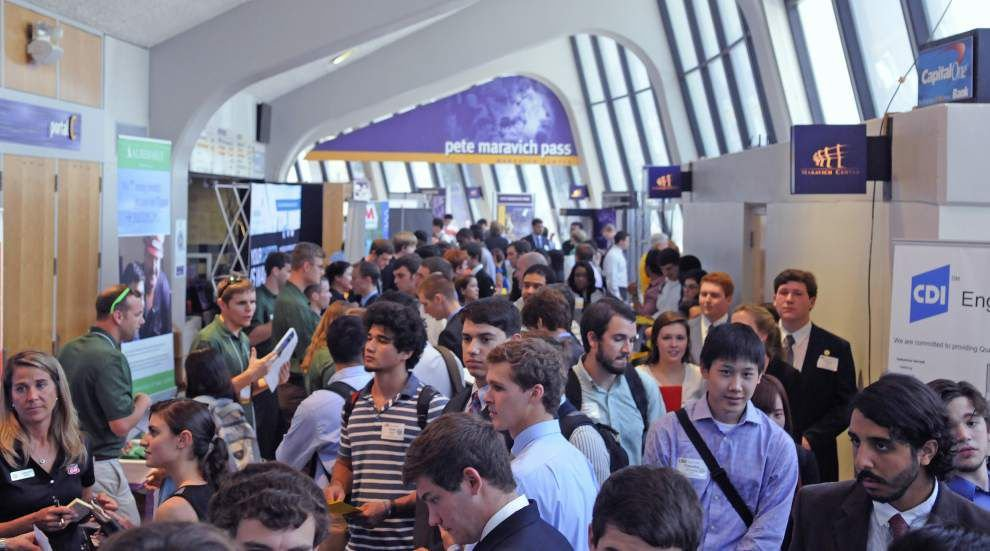 Employers scout for talent at 2-day LSU job fair _lowres