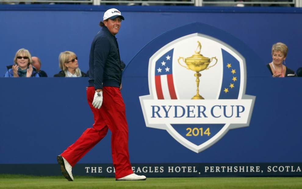 Ferguson: Mickelson saves best shot for his Ryder Cup captain _lowres