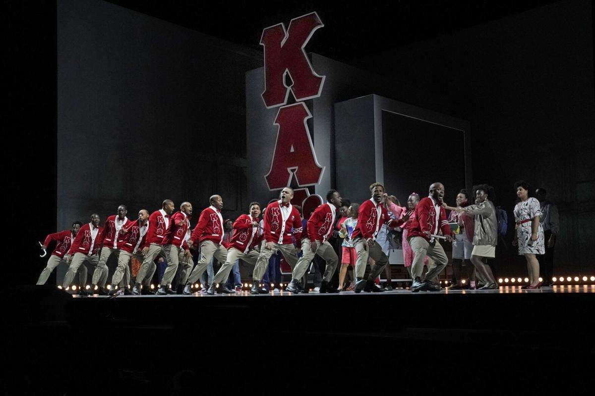 Kappa Alpha Psi Fraternity brothers step