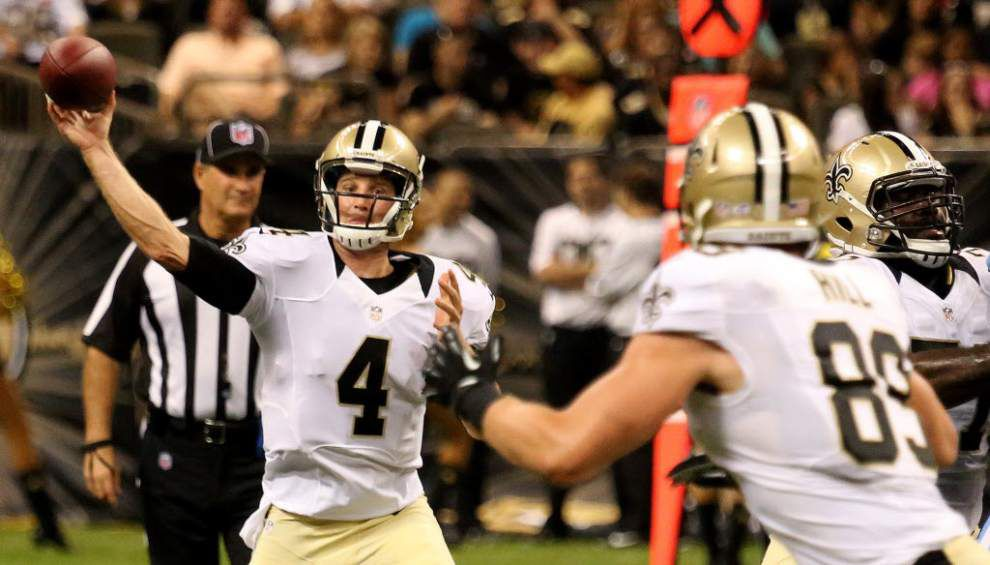 Report: The Saints sign back-up quarterback Ryan Griffin to a contract extension _lowres