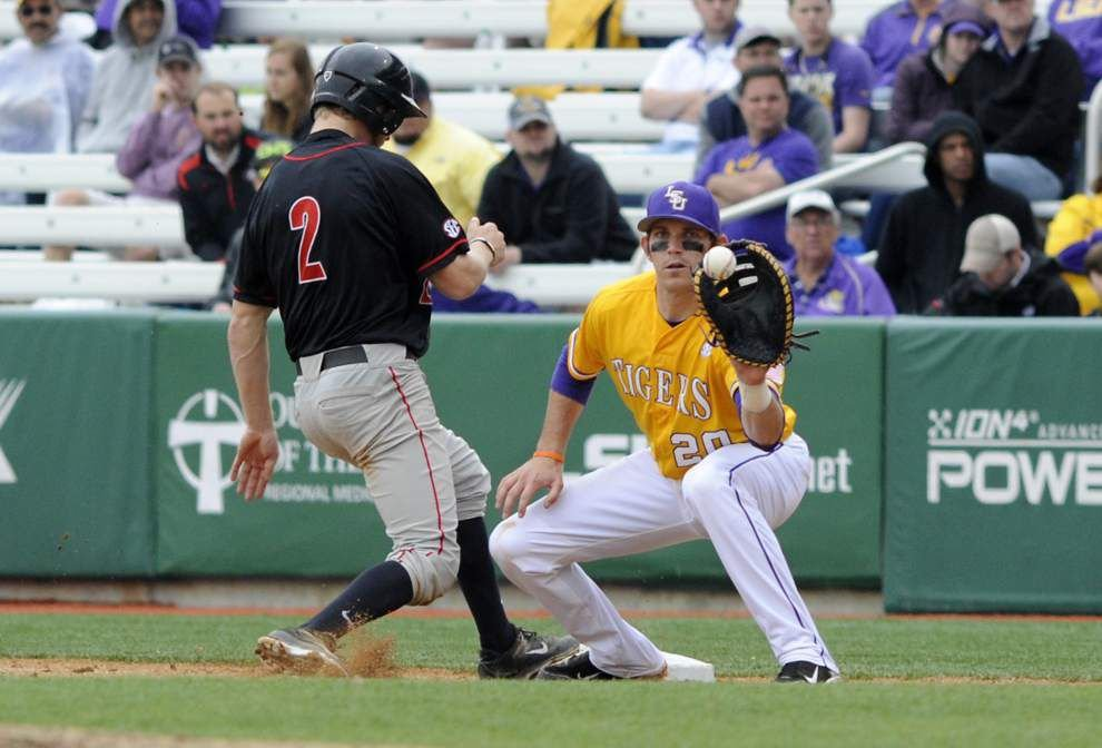 LSU baseball postgame: Tigers and Georgia play to 2-2 tie _lowres