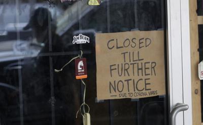 Coronavirus file photo stock of closed business unemployment