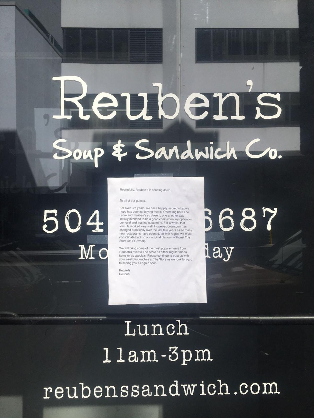 Reuben's Soup and Sandwich Co. closes_lowres