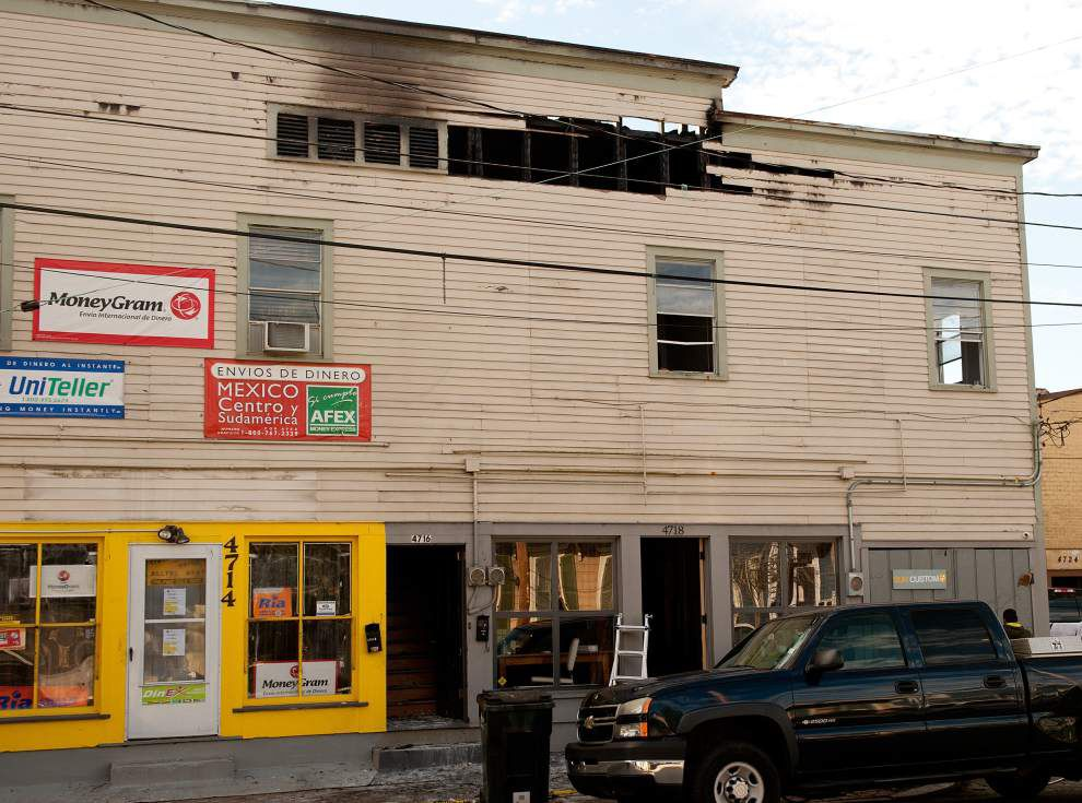 Residences uninhabitable, businesses suffer damage after large fire in Magazine Street building _lowres