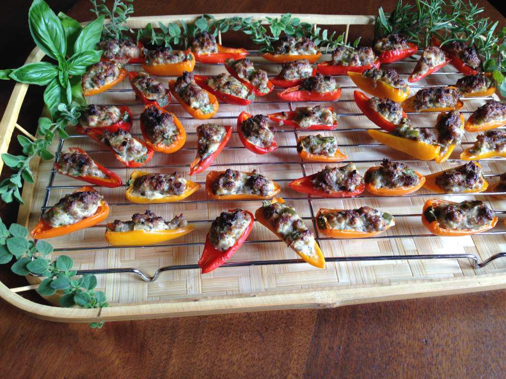 Gourmet Galley: Stuffed mini peppers make great party appetizers _lowres
