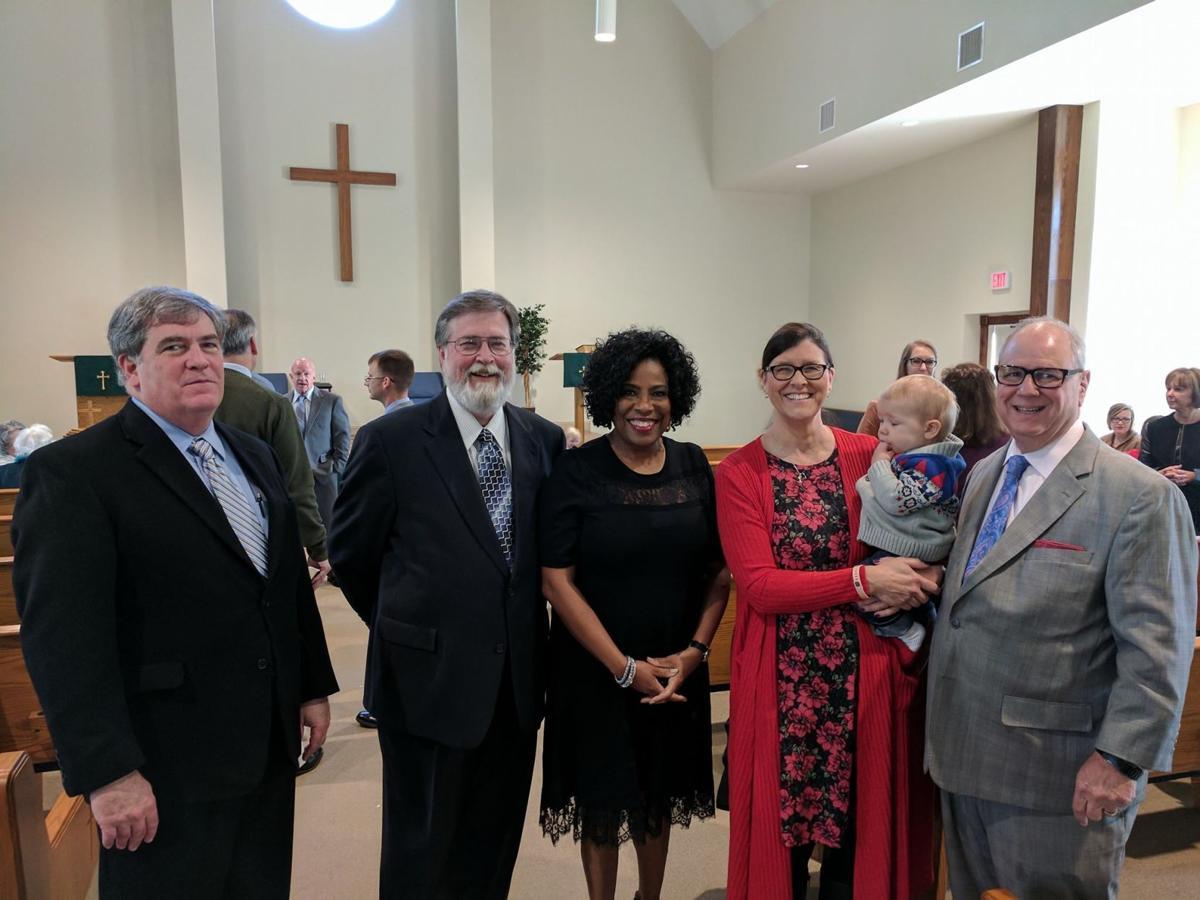 Sharon Weston Broome at church with Buddy Amoroso