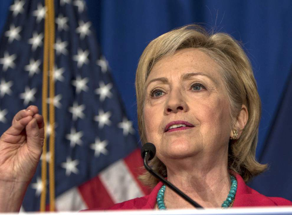 Report: Tickets priced at $2,700 for Hillary Clinton fundraiser at businessman Jim Bernhard's Baton Rouge home _lowres