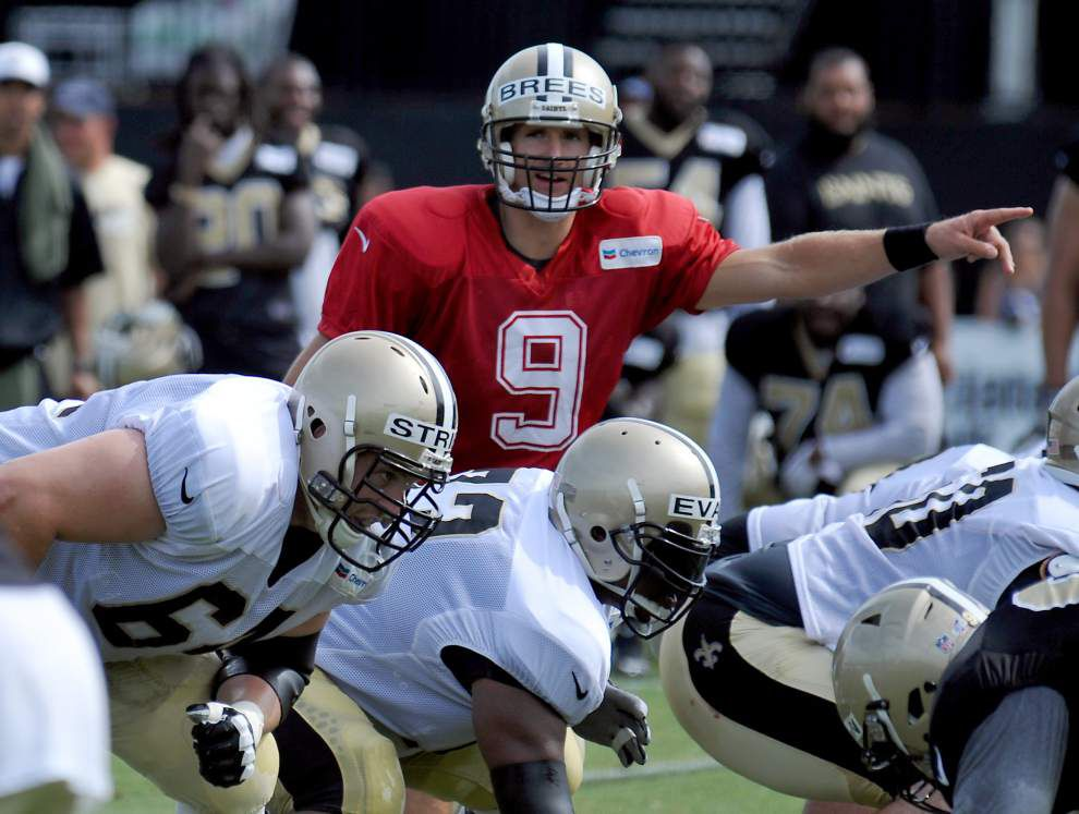 Two key changes should provide Saints quarterback Drew Brees with better protection this season _lowres