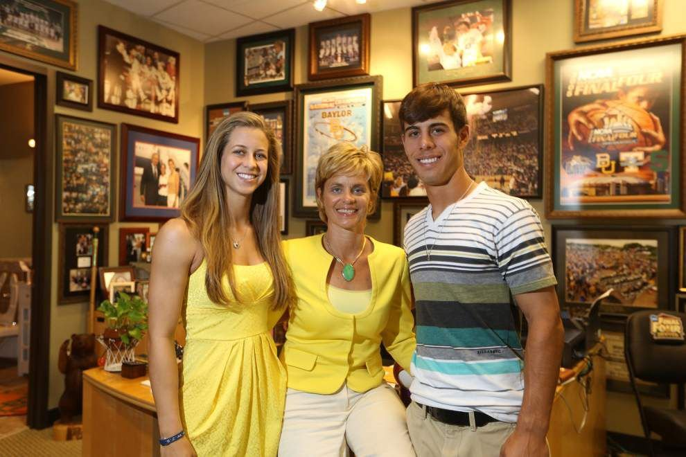 'She's the only person I hear': LSU's Kramer Robertson, Kim Mulkey spend Mother's Day the only way they know how _lowres