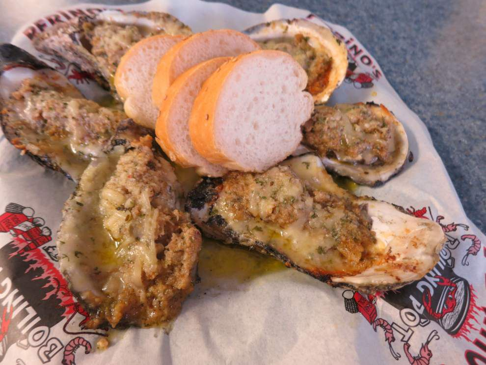 Digging In: At Harvey seafood hall, stuffing makes oysters shine _lowres