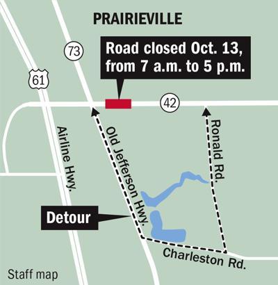 100919 Prairieville 42 road closure