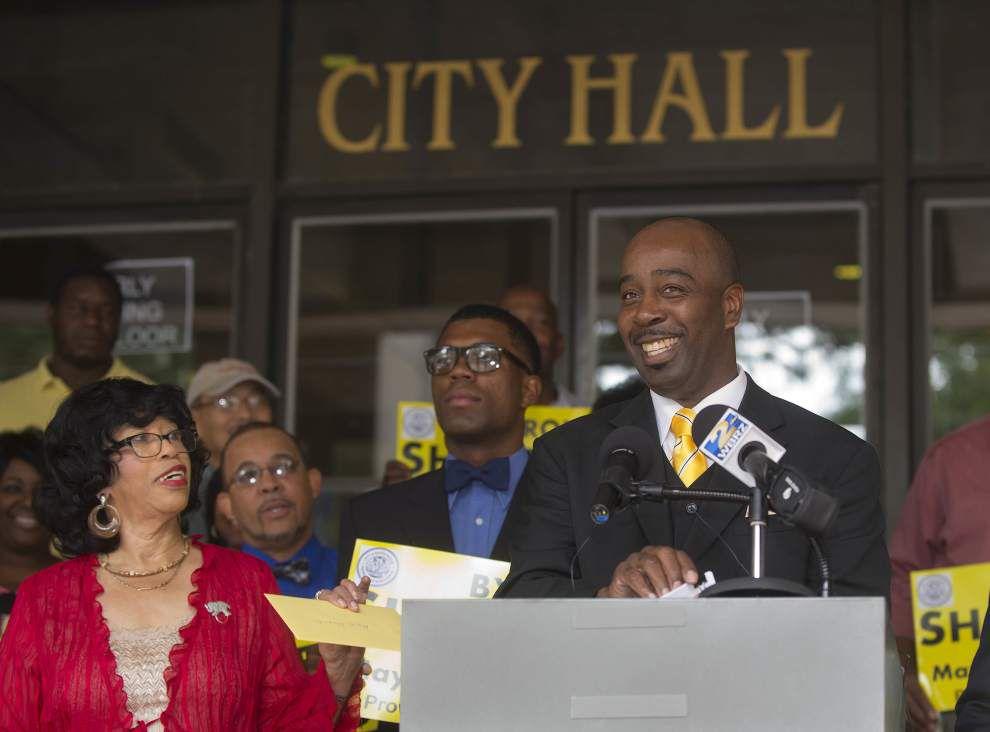 Former Metro Councilman Byron Sharper announces Baton Rouge mayoral bid _lowres