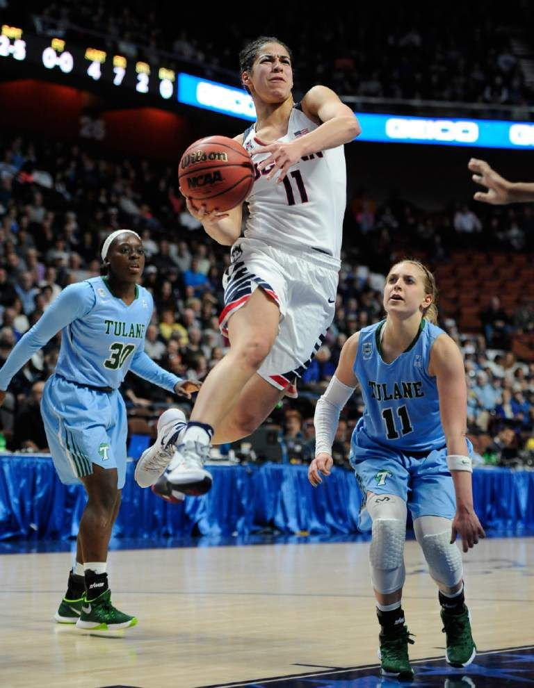 No. 1 UConn women rout Tulane 82-35 in American semifinals _lowres