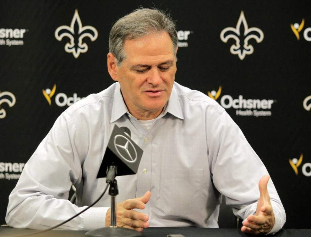 Saints' Mickey Loomis, Sean Payton don't take the bait, stay out of Deflate-gate discussion _lowres