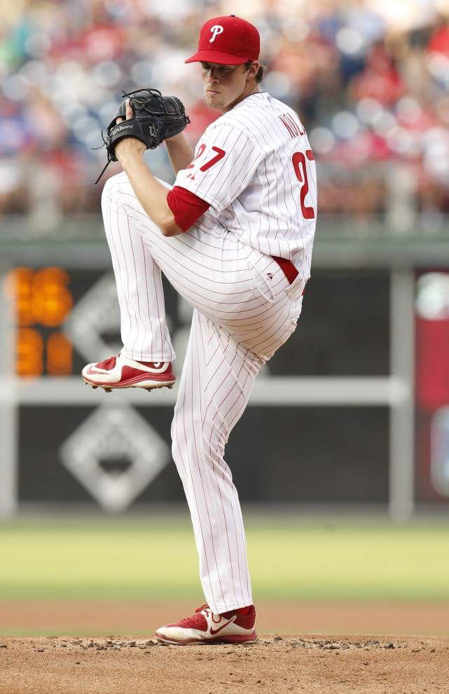 Photos: Nola pitches in first MLB game _lowres