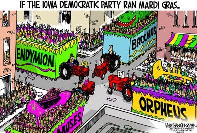 Walt Handelsman: If the Iowa Democratic Party Ran Mardi Gras...
