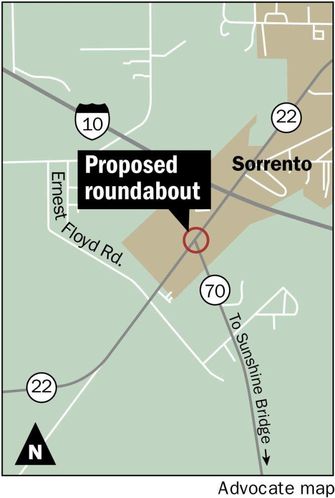 Sorrento mayor, residents express concerns about state safety plan to limit left turns on congested section of La. 22 _lowres