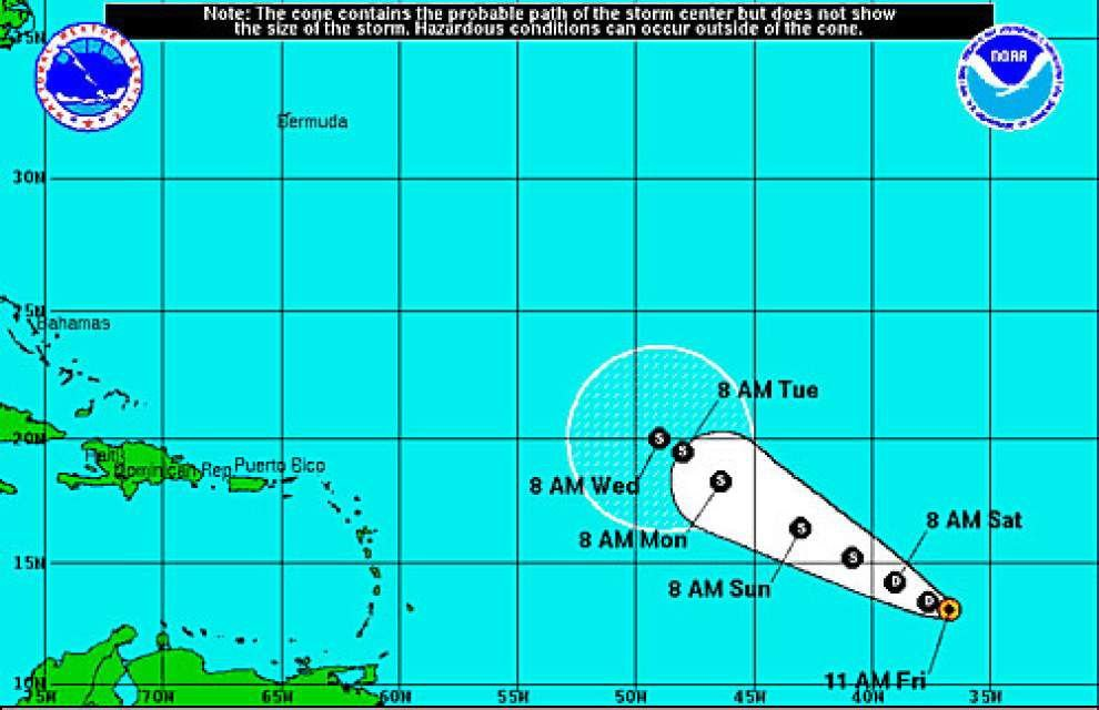 New tropical depression forms over eastern Atlantic, expected to strengthen _lowres