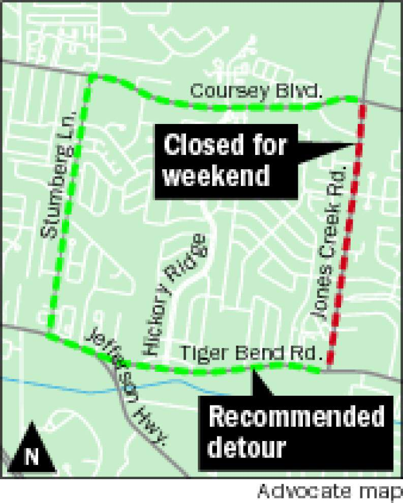 Sewer work closes Jones Creek this weekend _lowres