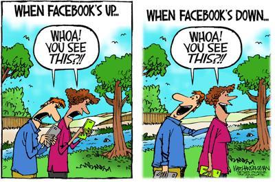 Walt Handelsman: Facebook Goes Down...