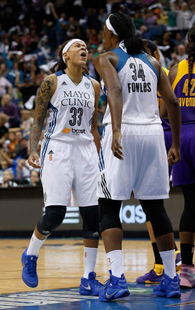 Seimone Augustus, Sylvia Fowles and Minnesota Lynx take on Indiana Fever in WNBA Finals _lowres