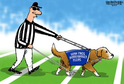 Walt Handelsman: New NFL Rules