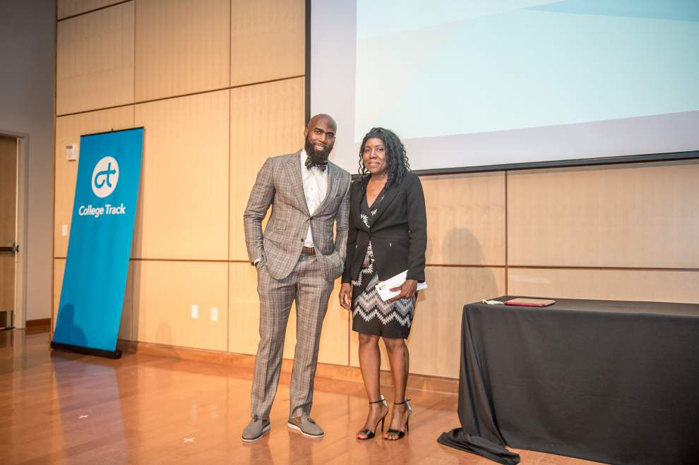 Former Saint Malcolm Jenkins makes 'proud' New Orleans return to award scholarships _lowres