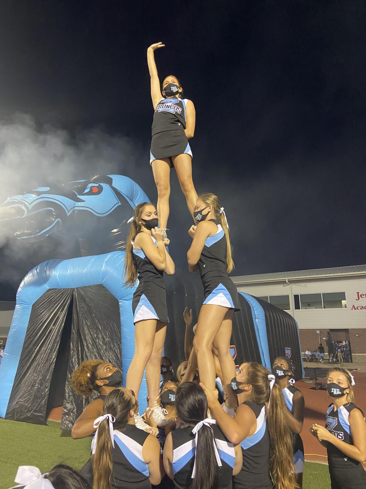 Bronco Cheerleaders get in the spirit.jpg