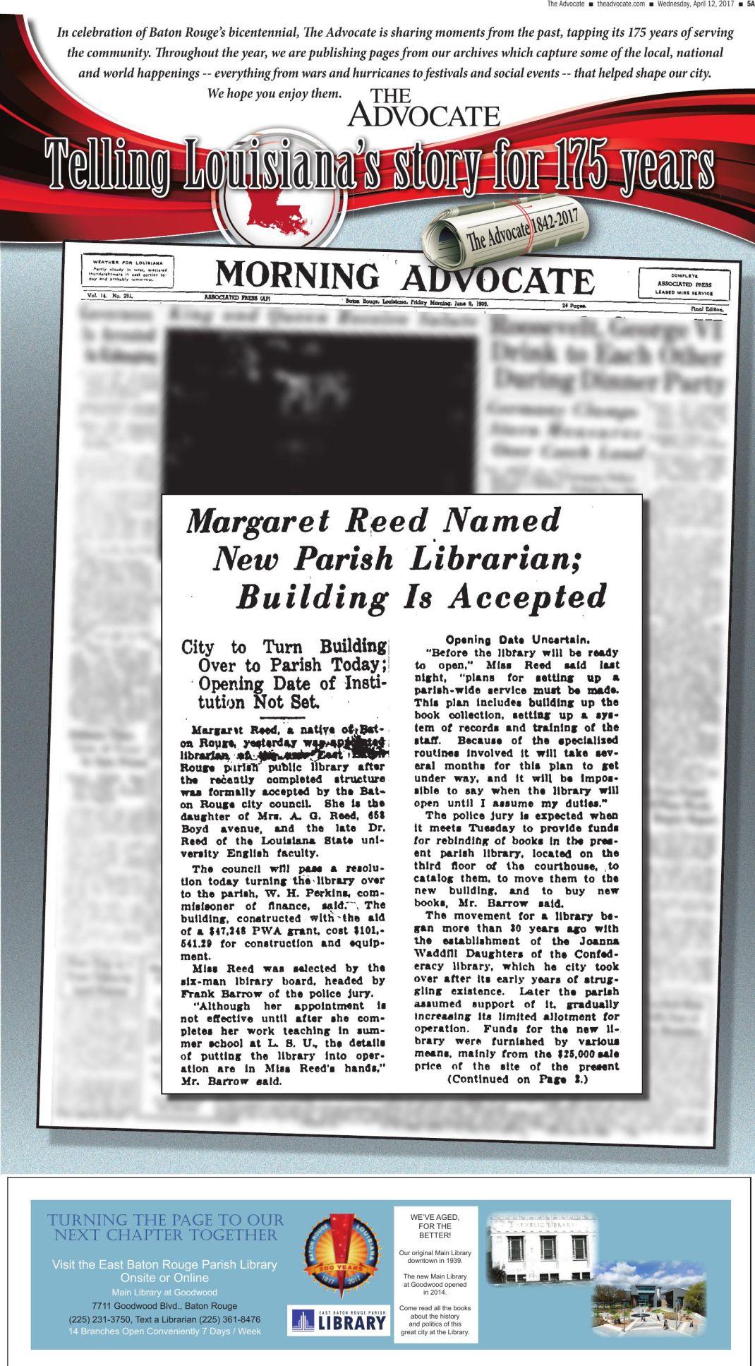 Margaret Reed named New Parish Librarian
