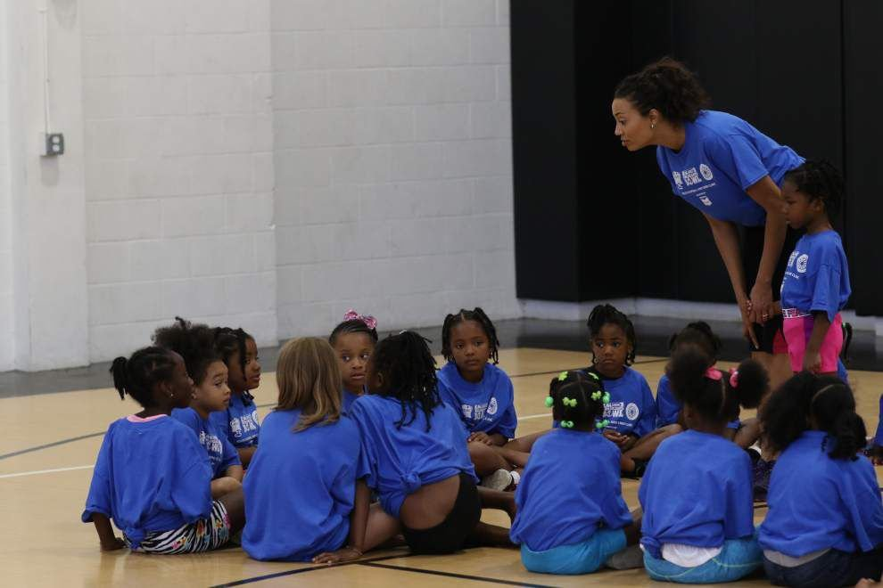 Cheer and Football Clinic held in Joe W. Brown Park _lowres