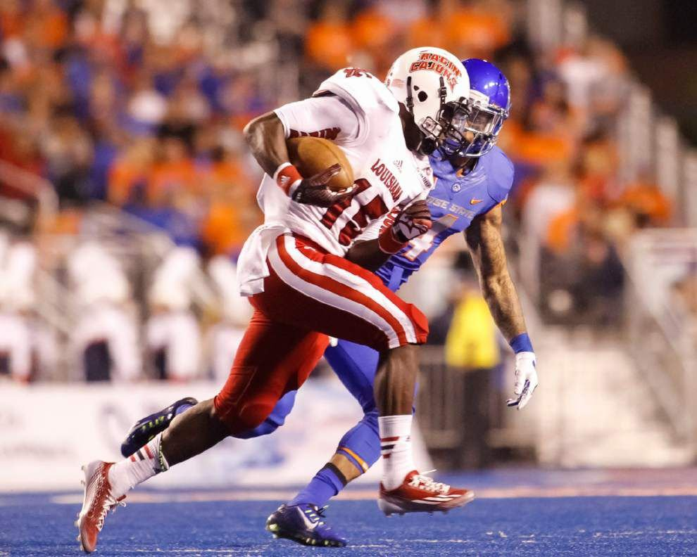 UL-Lafayette running back Elijah McGuire gets touches early, often at Boise State _lowres