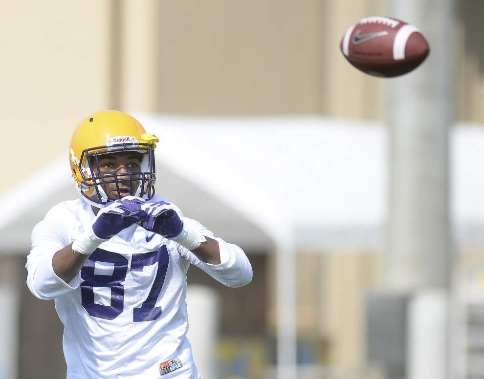 Video: LSU receiver drills from Wednesday's practice _lowres