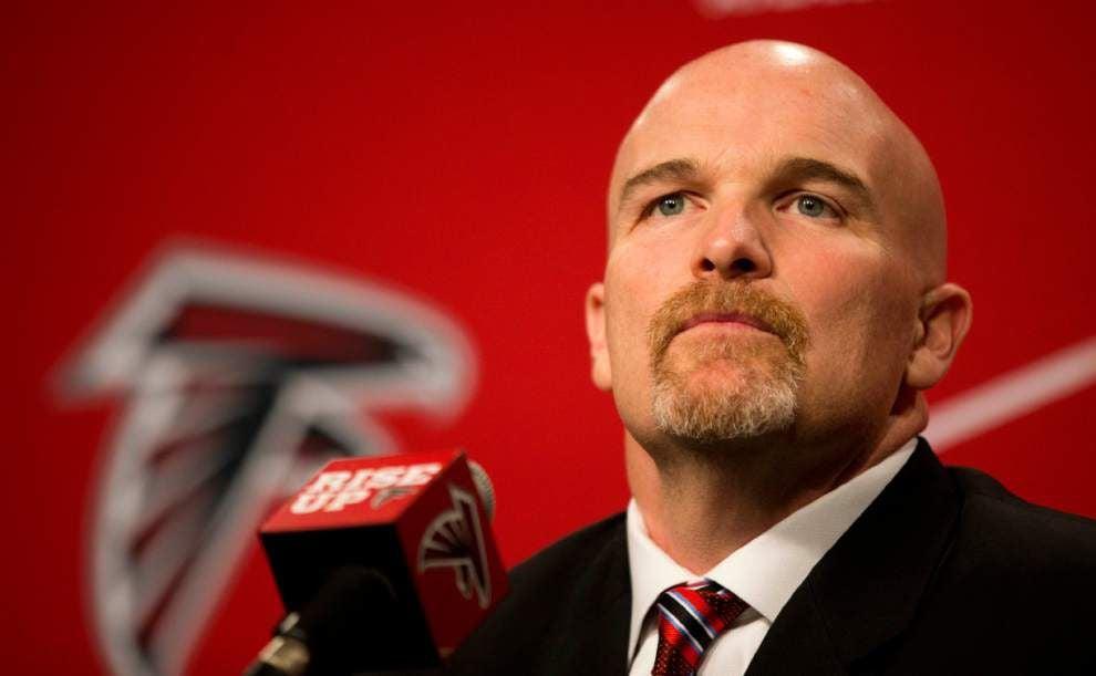 New Atlanta Falcons coach Dan Quinn lays out plan; Browns receiver Josh Gordon suspended for season _lowres