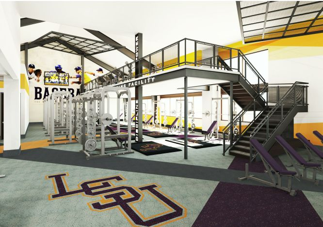 Renderings Of LSU Baseballs New Weight Room