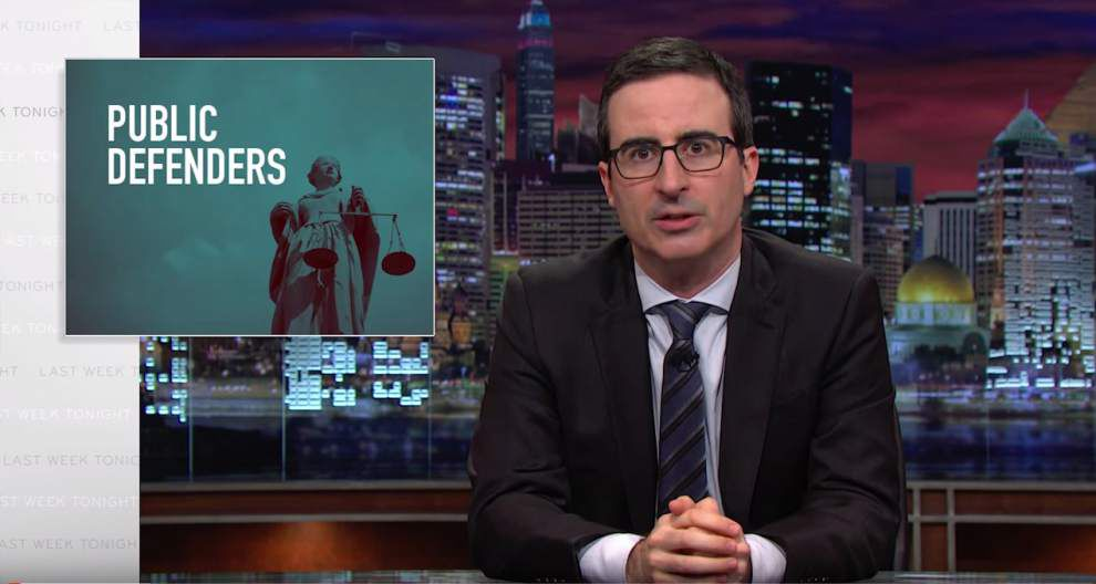HBO comedy host John Oliver gives Orleans Parish Public Defender's Office a crowdfunding boost _lowres