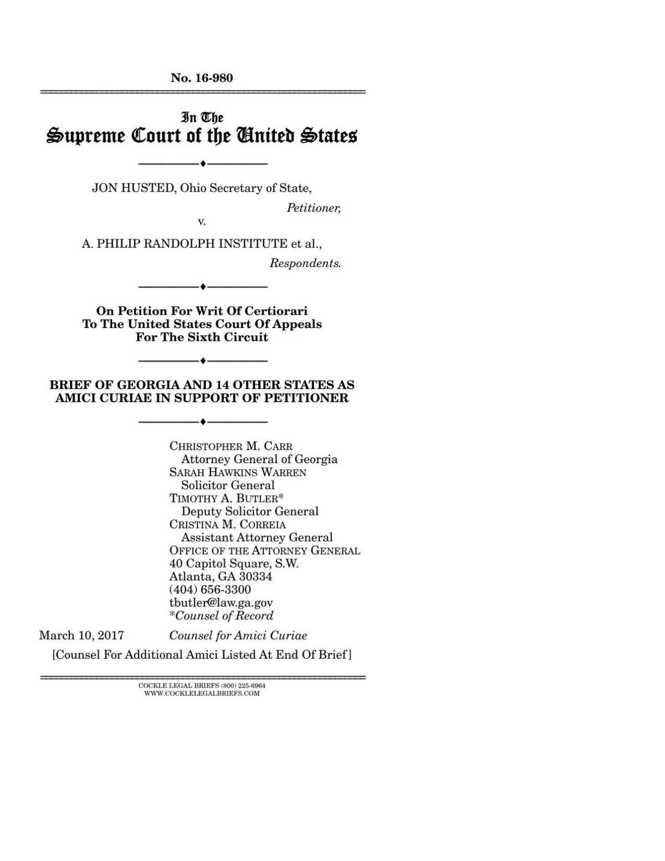 Republican Attorney General's brief