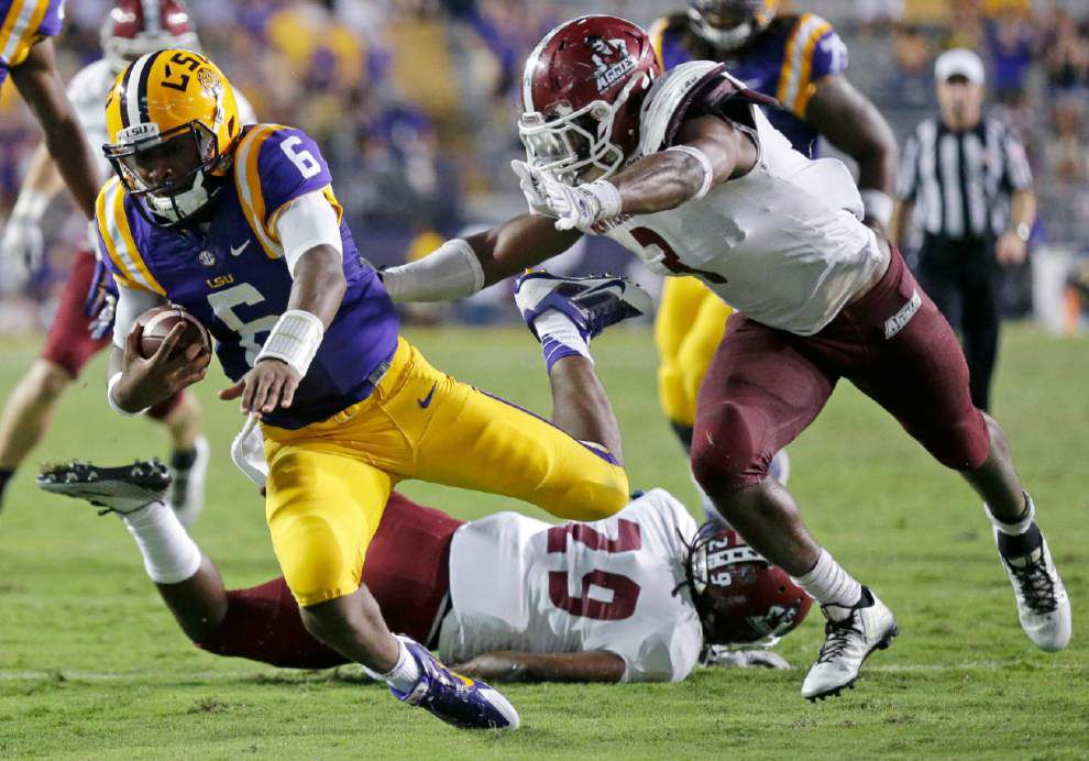 Video: LSU freshman quarterback Brandon Harris says his play against Aggies was a confidence builder _lowres