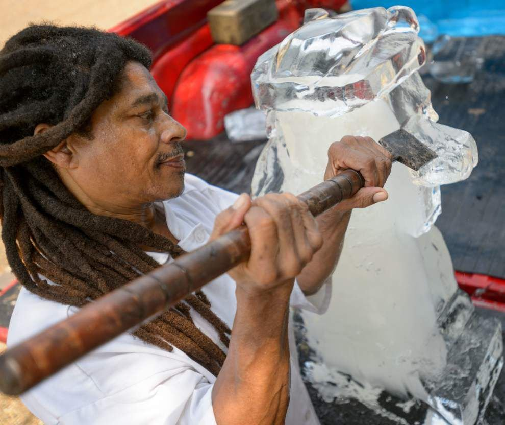 Ice carver Chris Hunter might just have the coolest job in New Orleans _lowres